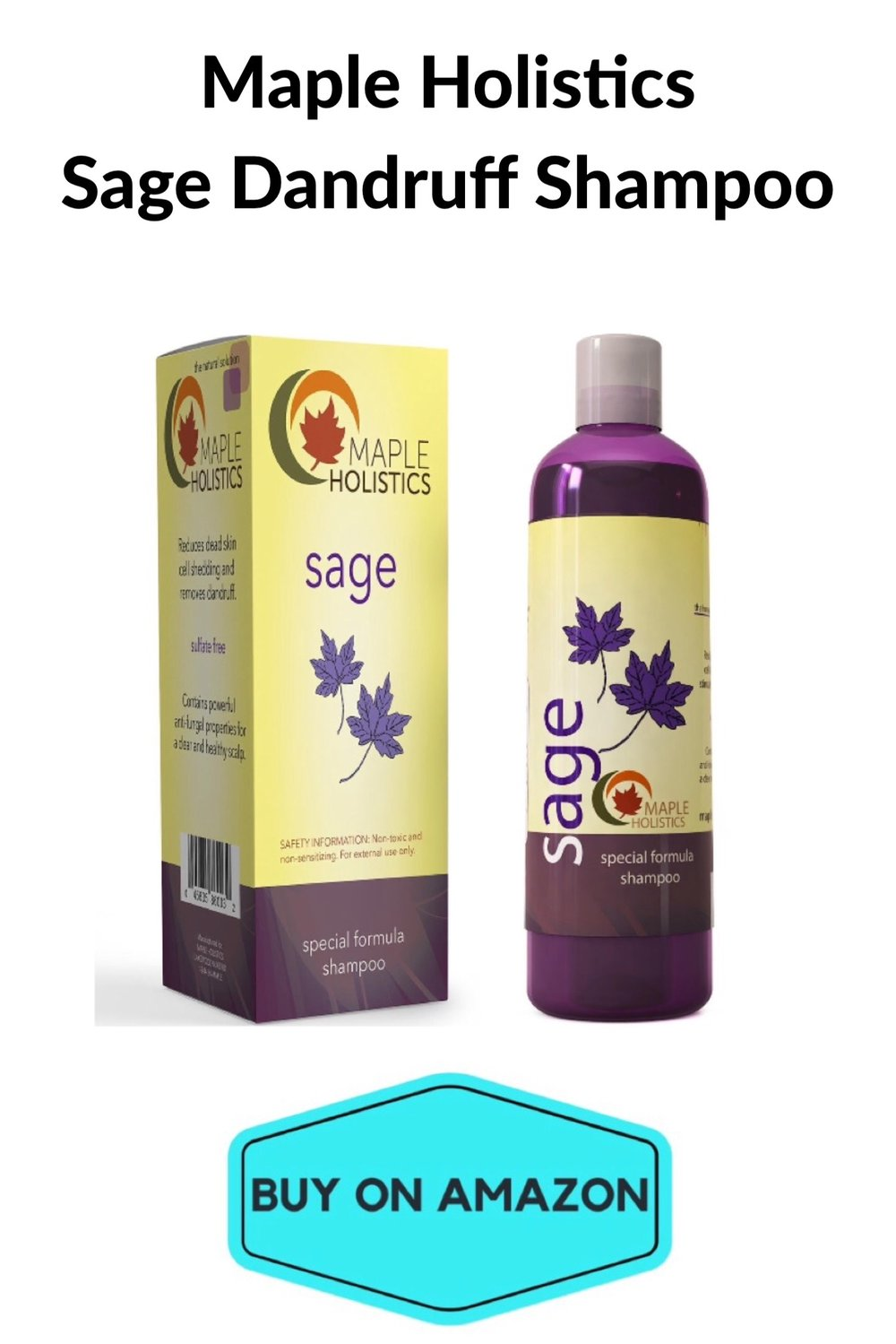Maple Holistics Sage Dandruff Shampoo