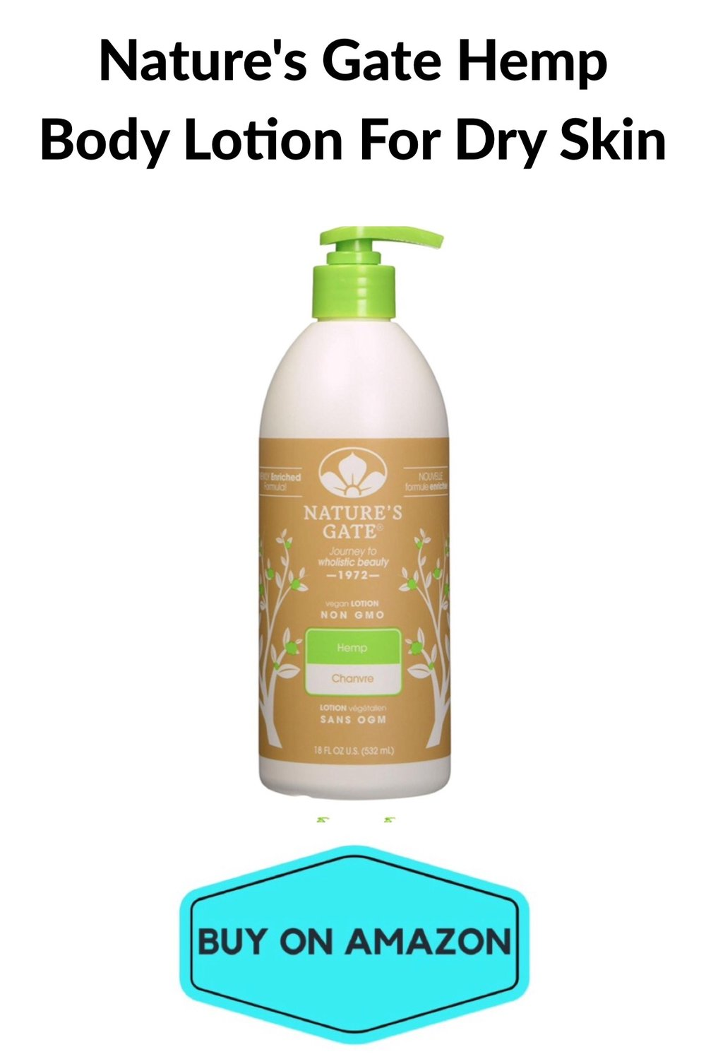 Nature's Gate Hemp Body Lotion For Dry Skin