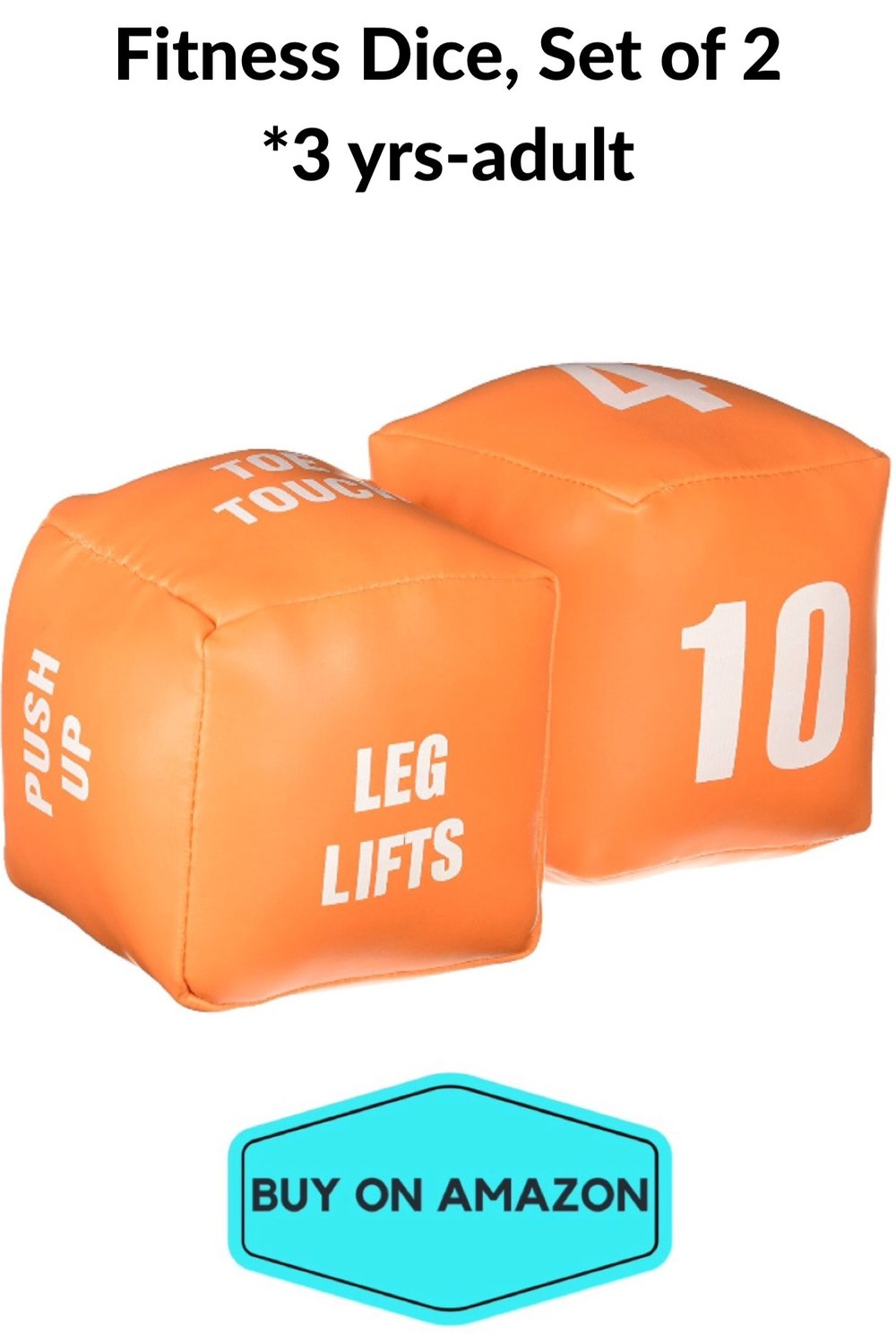 Fitness Dice, Set of 2, Ages 3-Adult