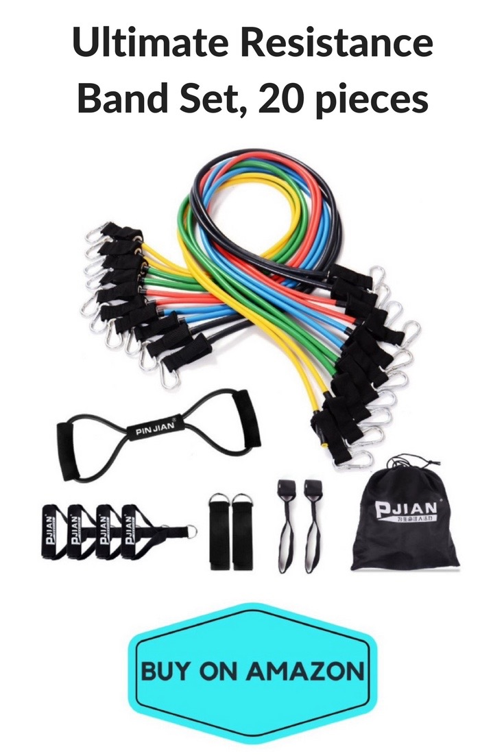 Ultimate Resistance Band Set, 20 Pieces