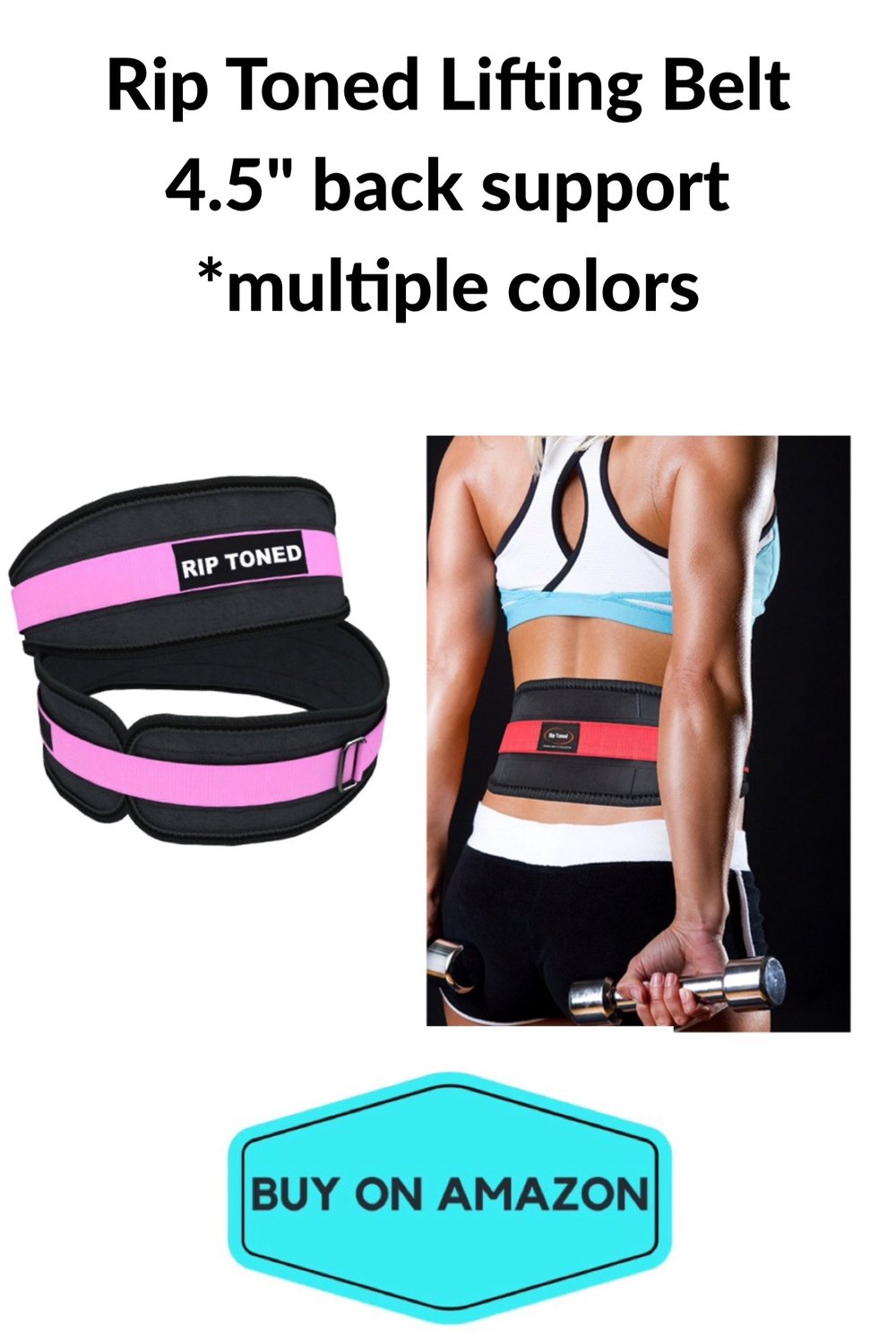 "Rip Toned Lifting Belt, 4.5"" Back Support"