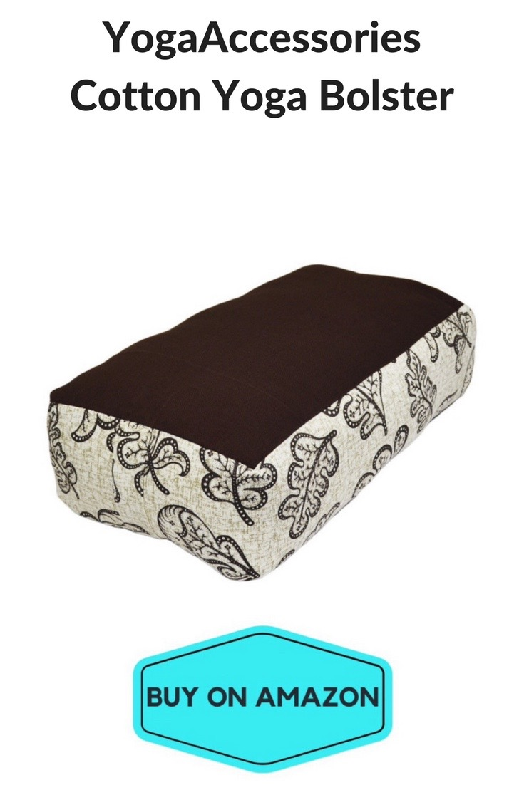 YogaAccessories Cotton Yoga Bolster