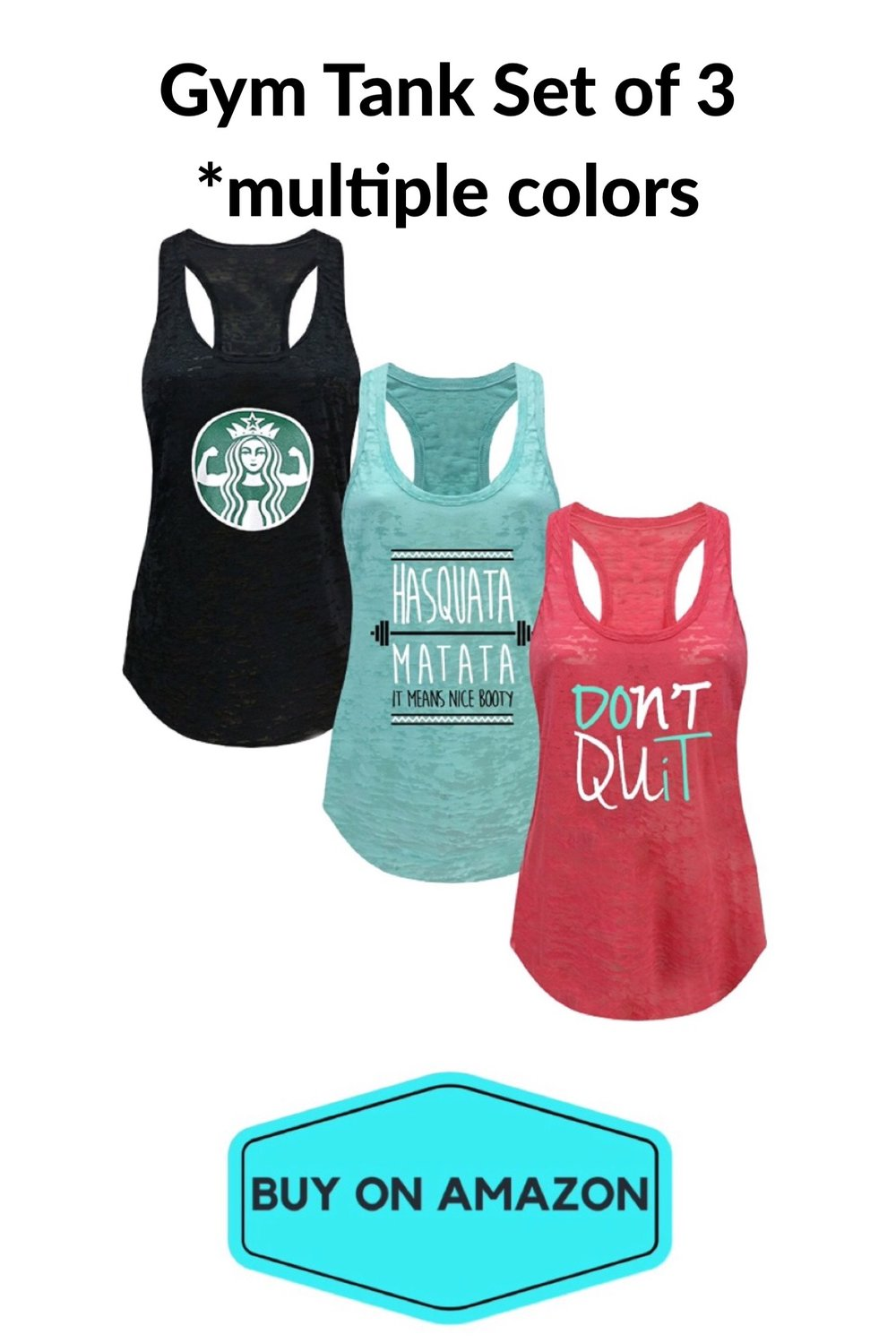 Set of 3 Gym Tanks
