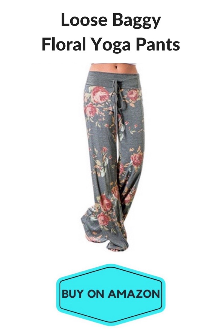 Loose Baggy Floral Yoga Trousers