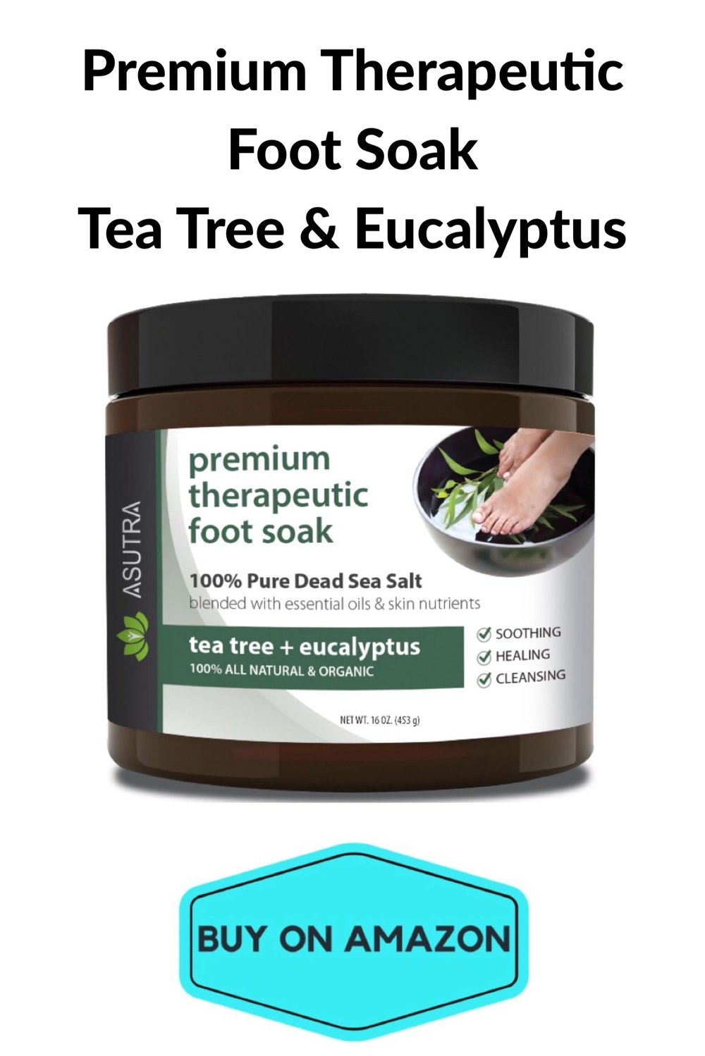 Therapeutic Foot Soak, Tea Tree & Eucalyptus