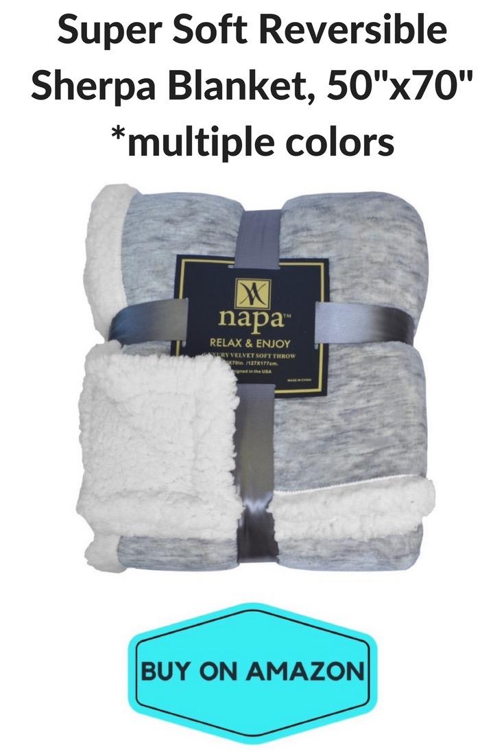 Super Soft Reversible Sherpa Blanket