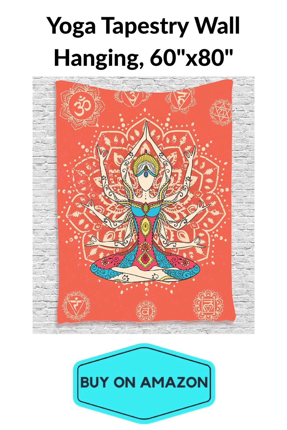 "Yoga Tapestry Wall Hanging 60"" x 80"""
