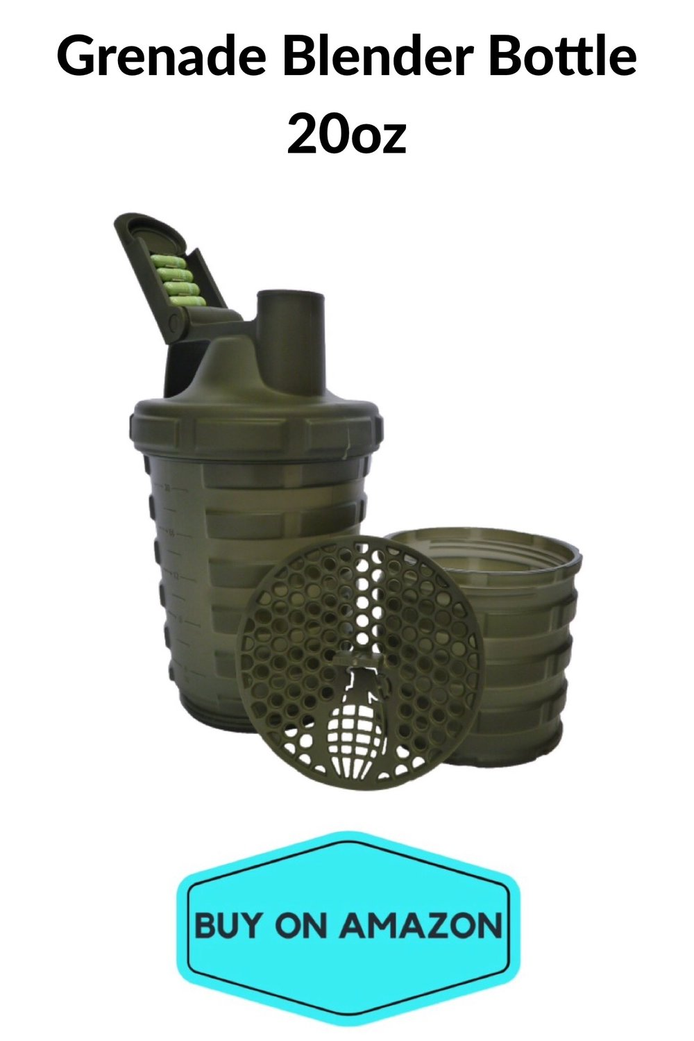 Grenade Blender Bottle