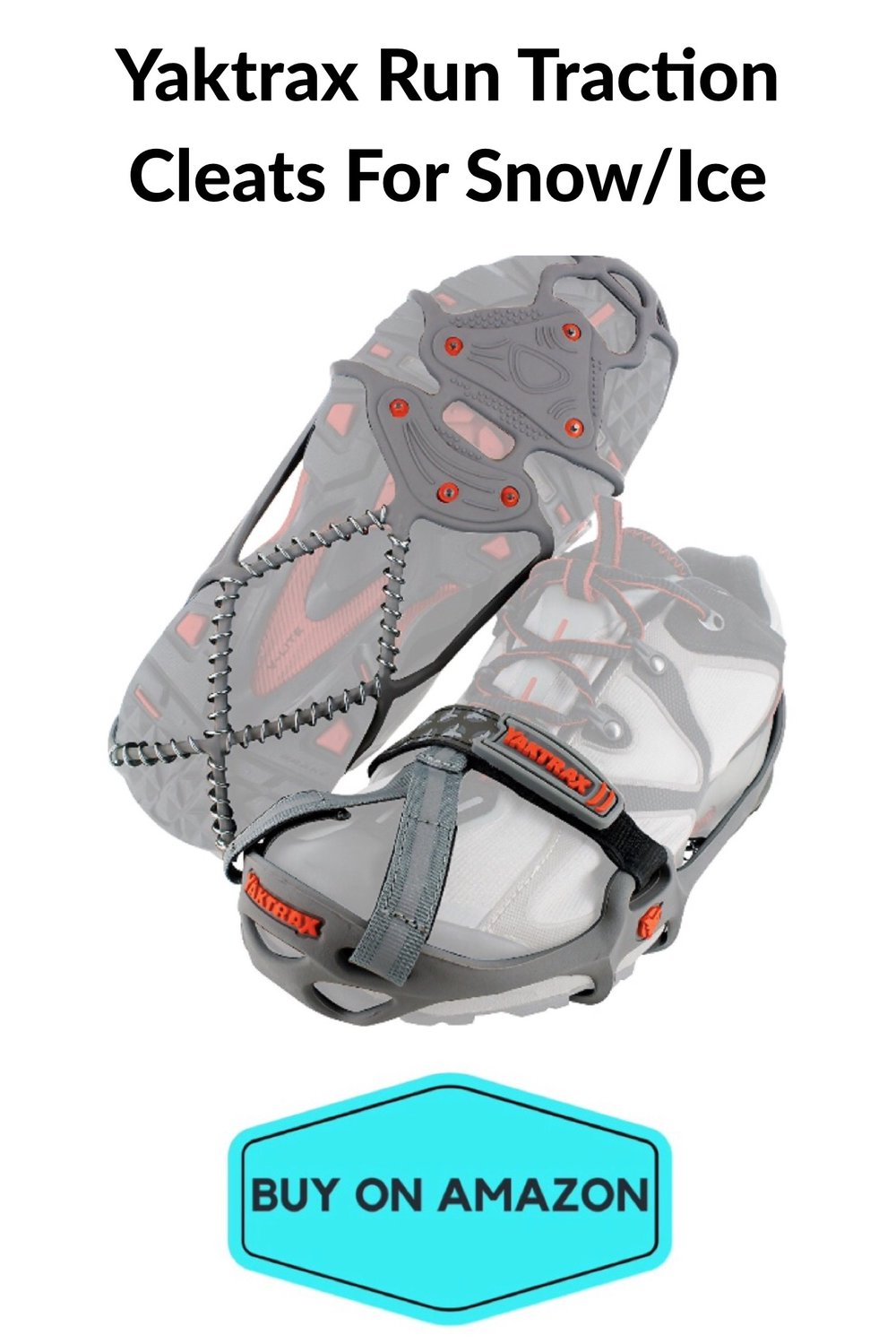 Yaktrax Run Traction Cleats For Snow/Ice
