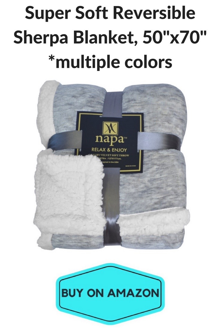 Super Soft Reversible Sherpa Blanket