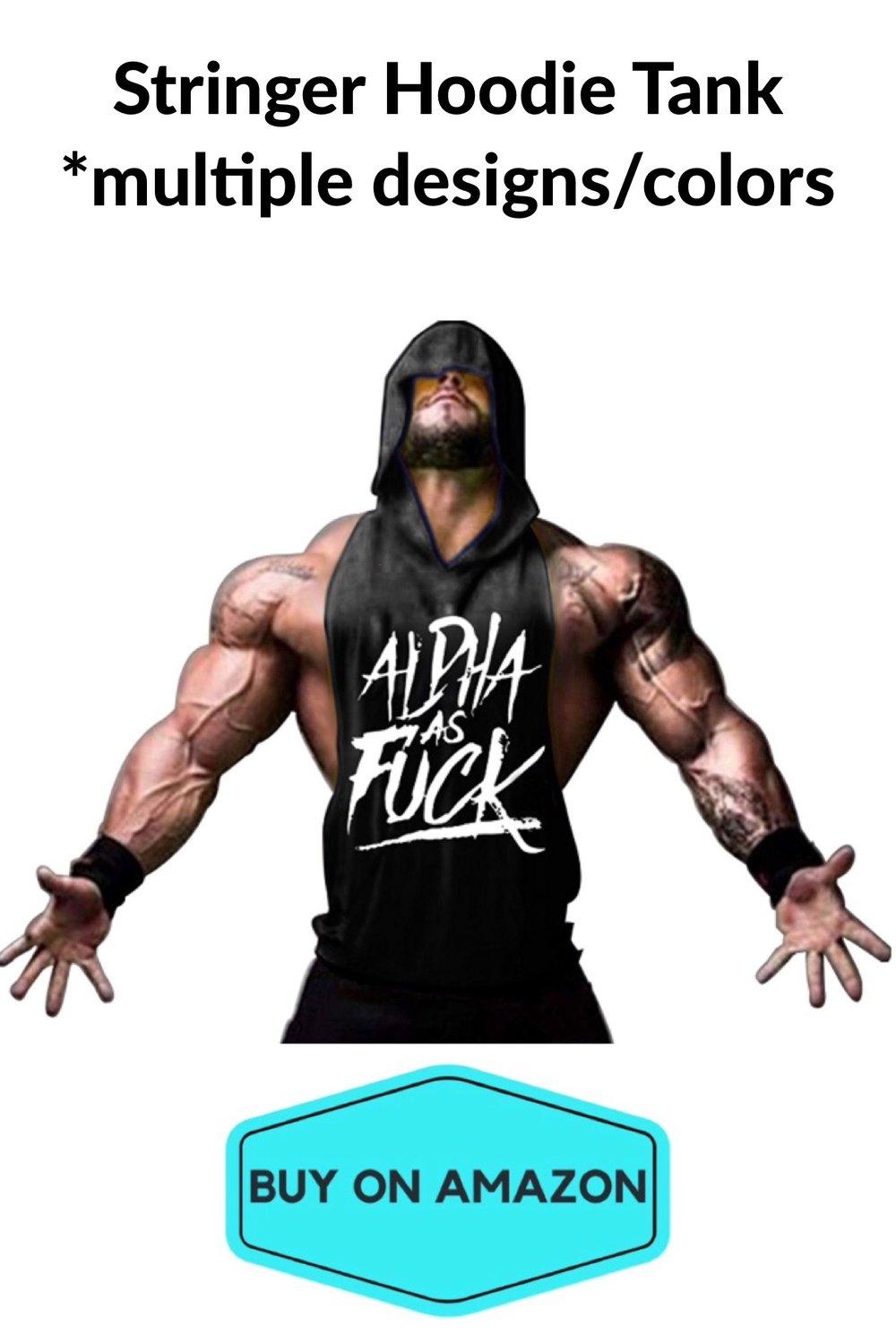 Men's Stringer Hoodie Gym Tank