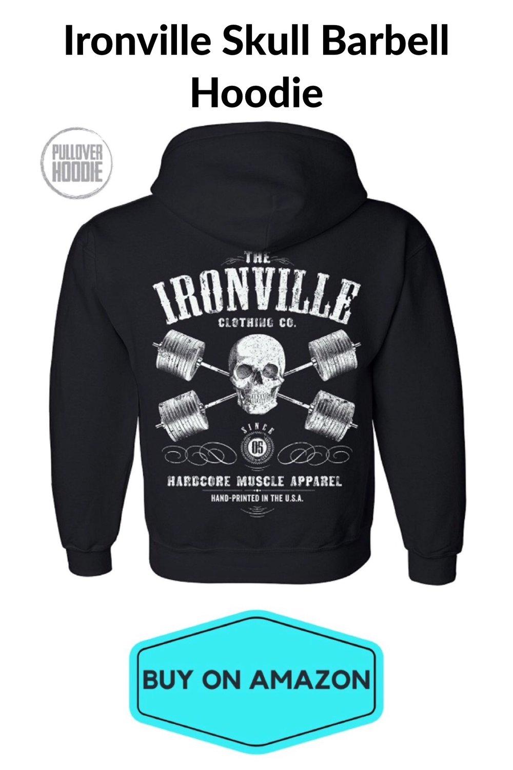 Ironville Skull Barbell Hoodie