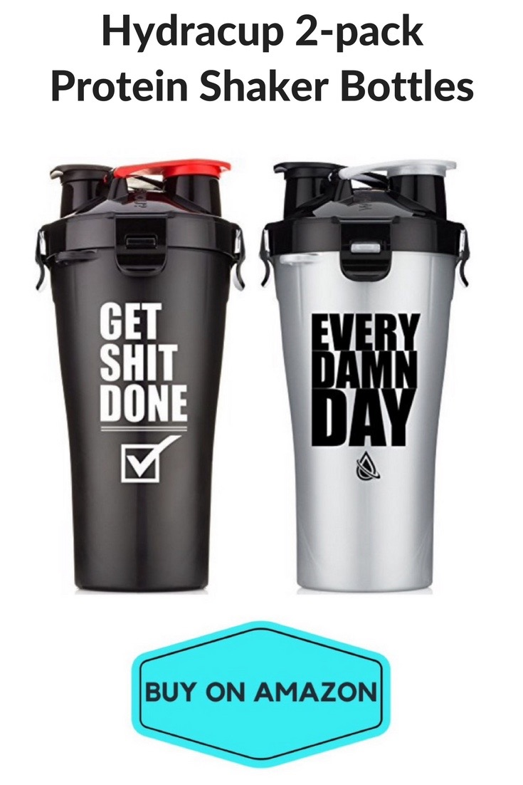 Hydracup Protein Shaker Bottles, 2 pack