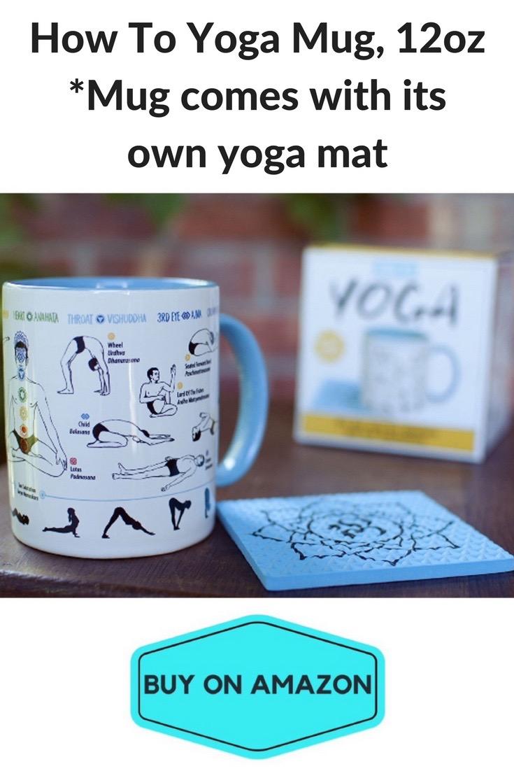 'How To Yoga' Coffee Mug, Includes Yoga Mat Coaster!