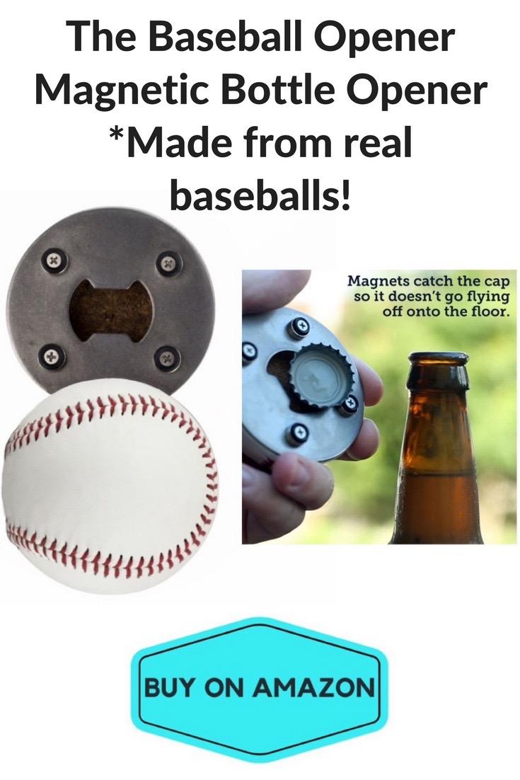 The Baseball Bottle Opener: Made w/ Real Baseballs!