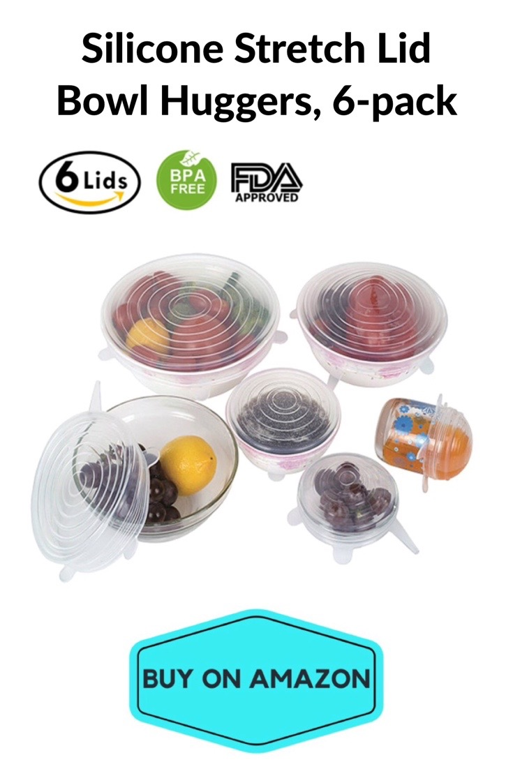 Silicone Stretch Lid Bowl Huggers, 6 pack