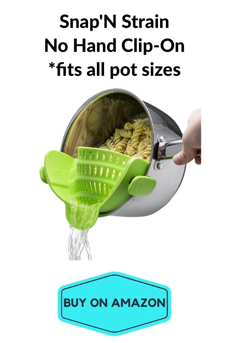 Snap 'N Strain No Hand Clip-On: Fits All Pot Sizes