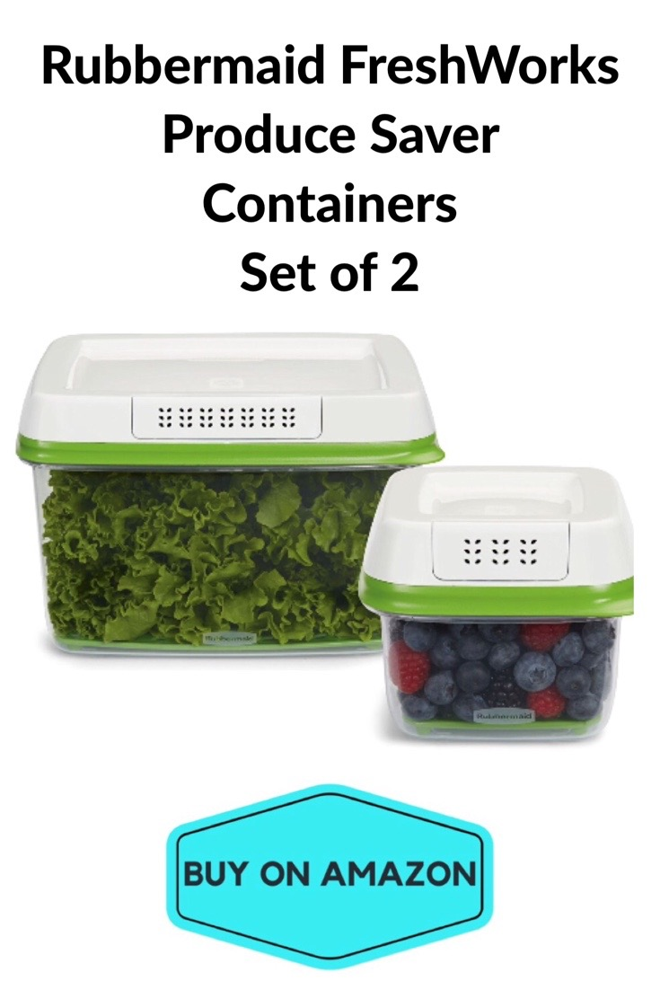 Rubbermaid FreshWorks Produce Saver Containers, Set of 2