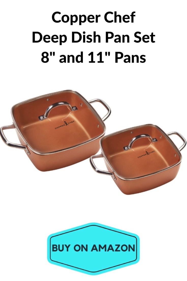 Copper Chef Deep Dish 4-Piece Pan Set