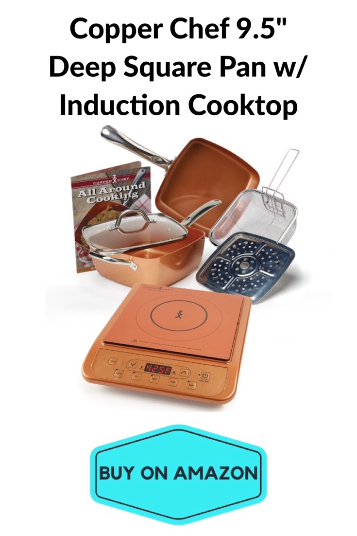 Copper Chef Deep Square Pan w/ Induction Cooktop