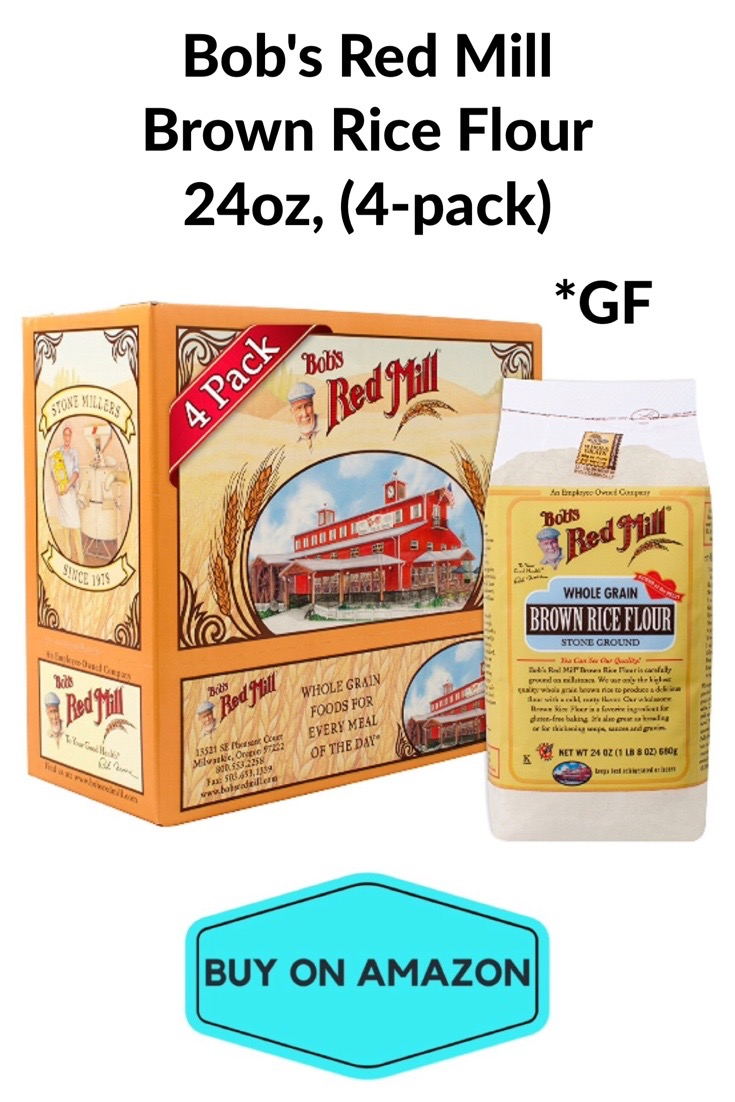 Bob'e Red Mill GF Brown Rice Flour, 24 oz, 4 pack