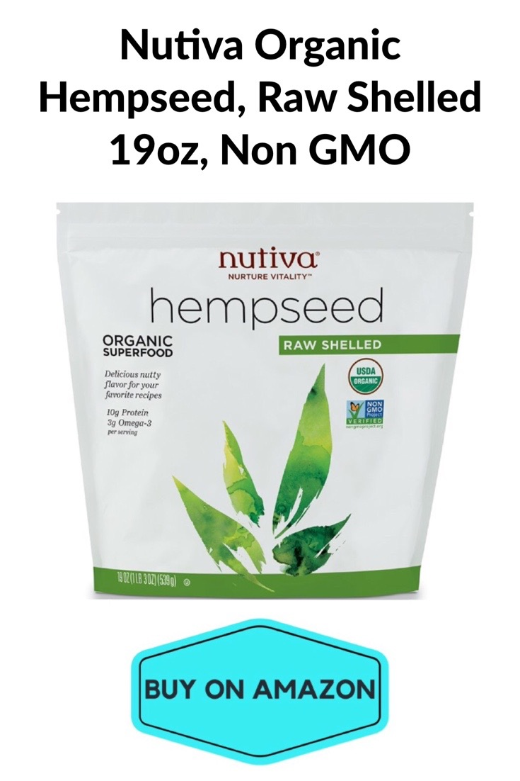 Nutiva Organic Hempseed, Raw, Shelled & non GMO, 19 oz