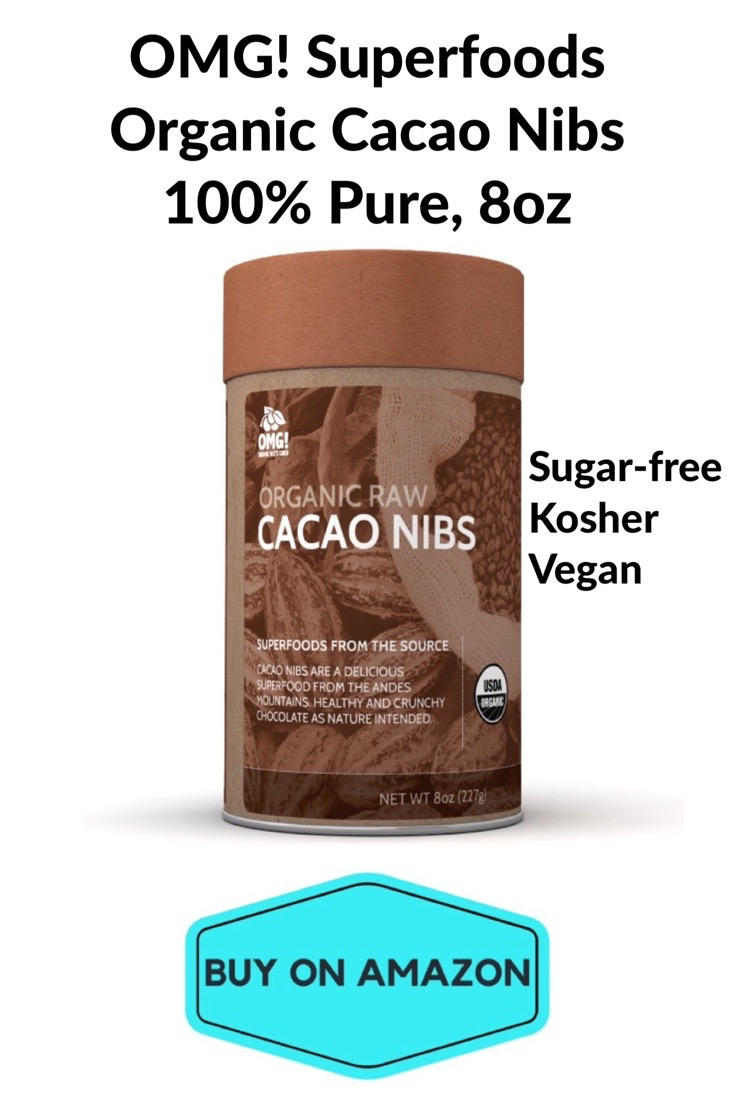 OMG! Superfoods Organic Cacao Nibs 100% Pure, 8 oz