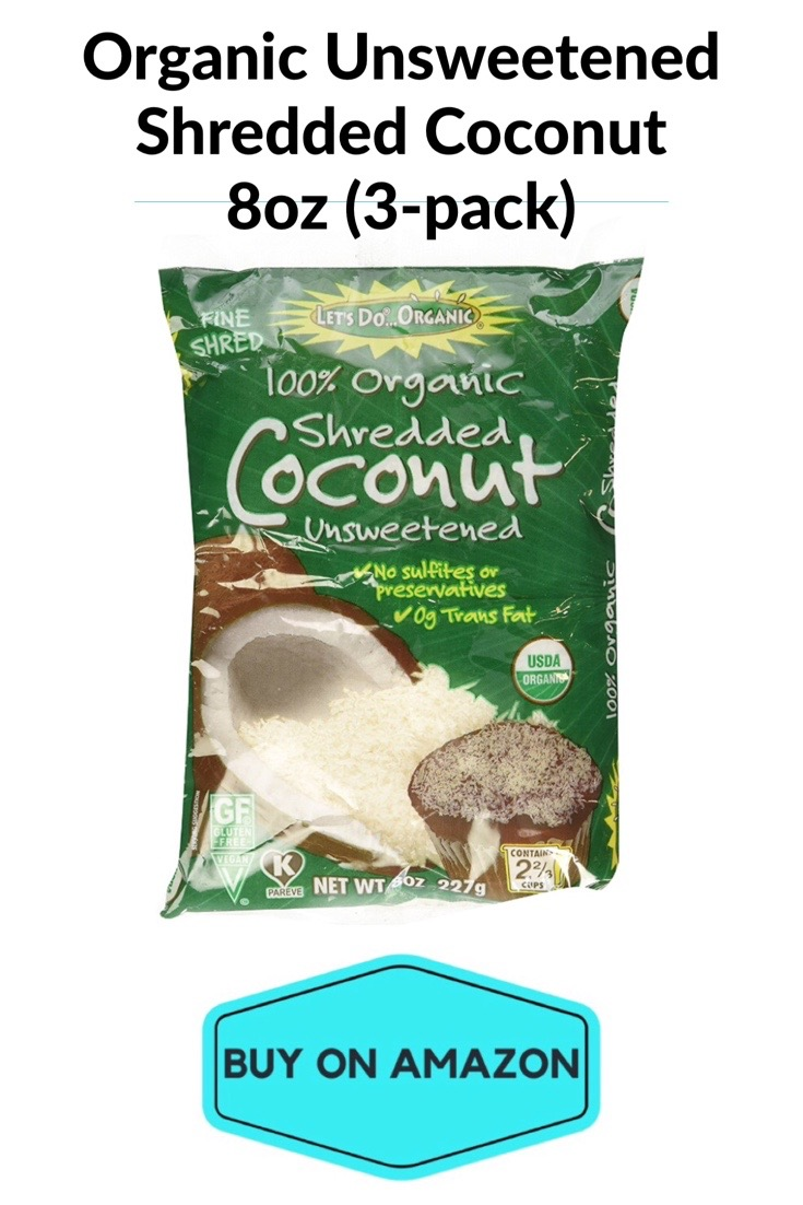 Organic Unsweetened Shredded Coconut, 8 oz, 3 pack