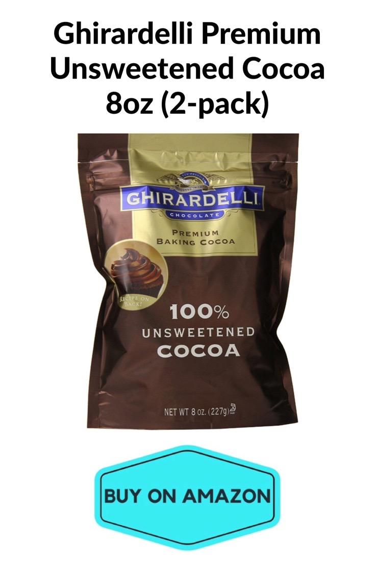 Ghirardelli Premium Unsweetened Cocoa, 8 oz, 2 pack