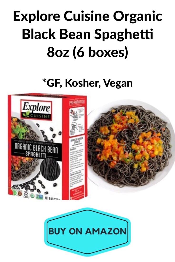Explore Cuisine Organic Black Bean Spaghetti, 8oz, 6 pack