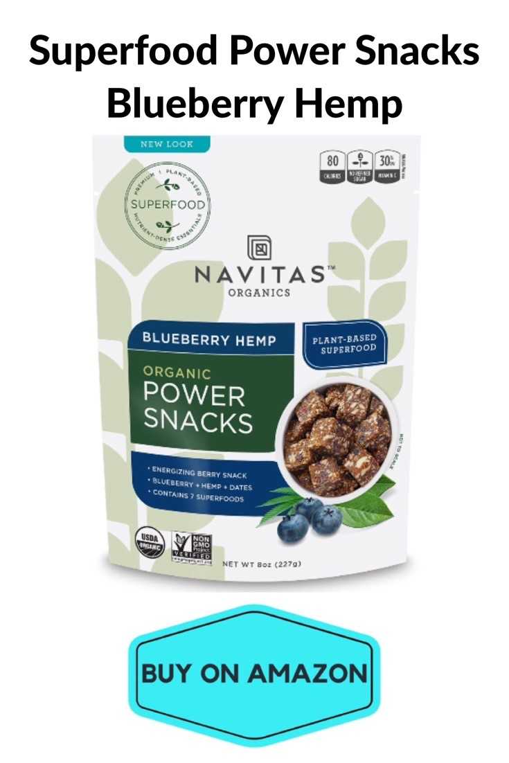 Superfood Power Snack Bites, Blueberry Hemp