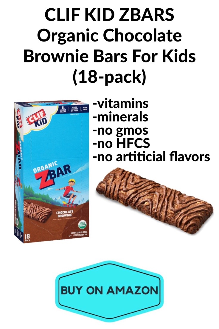 CLIF KID ZBARS Organic Chocolate Brownie Bars For Kids, 18 pack