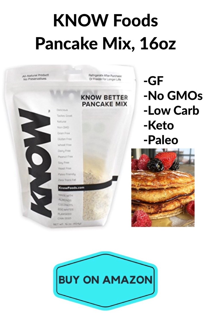KNOW Foods Gluten Free Pancake Mix, Paleo Friendly