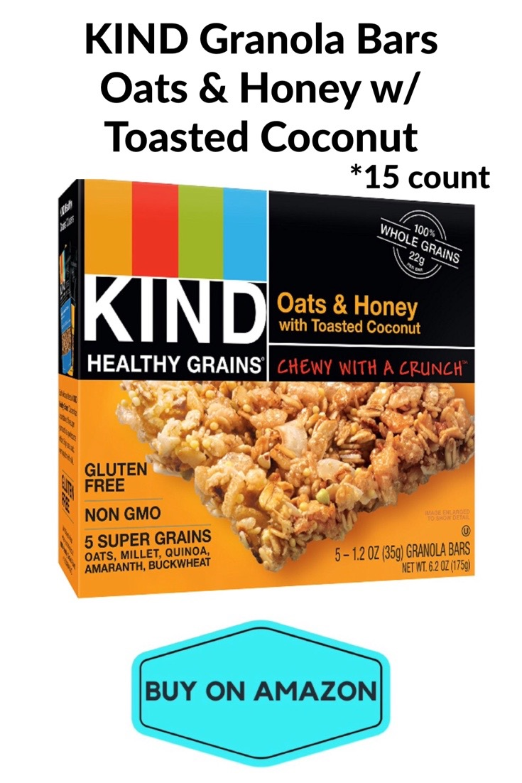 KIND Granola Bars, Oats & Honey w/ Toasted Coconut, 15 pack