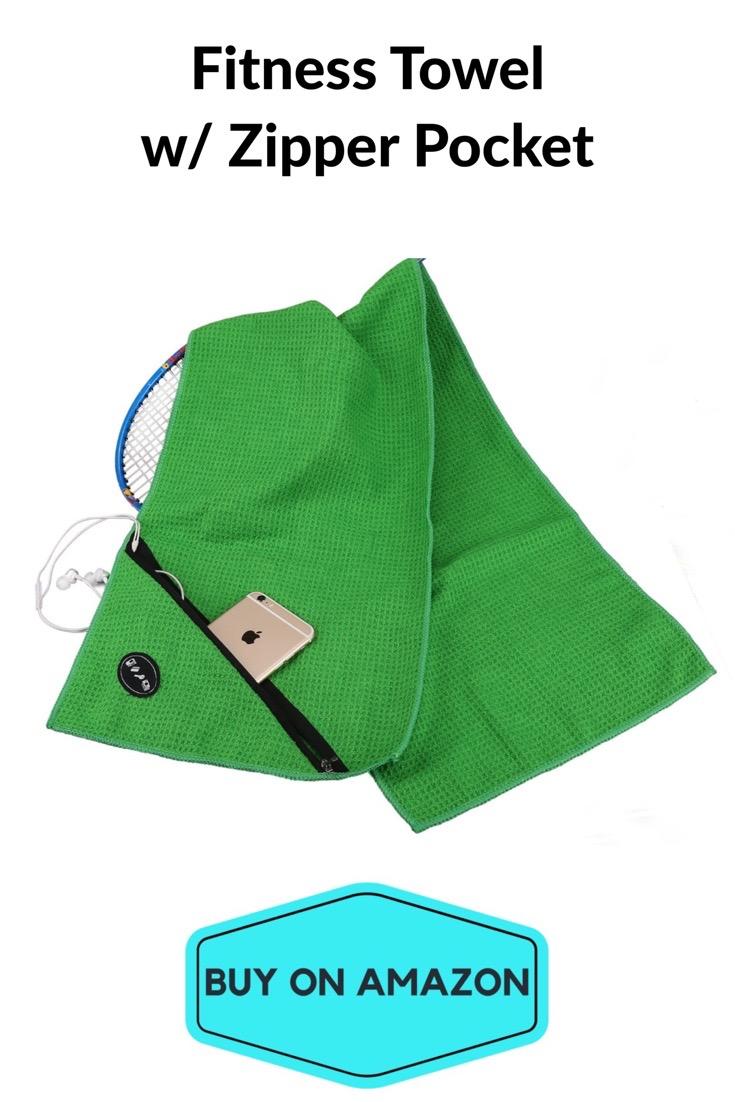 Fitness Towel w/ Zipper Pocket