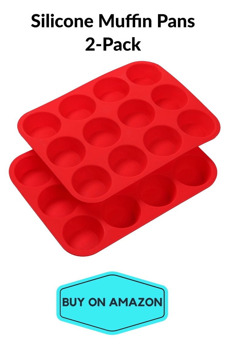 Silicone Muffin Pans, 2 Pack