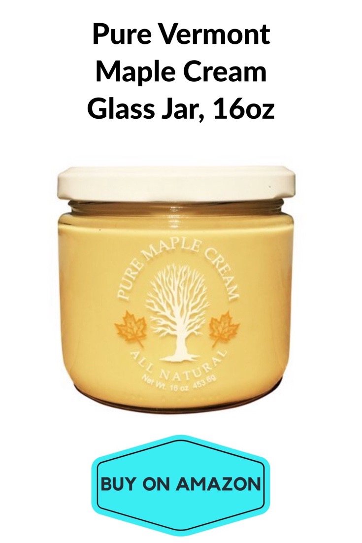 Pure Vermont Maple Cream, Glass Jar 16oz