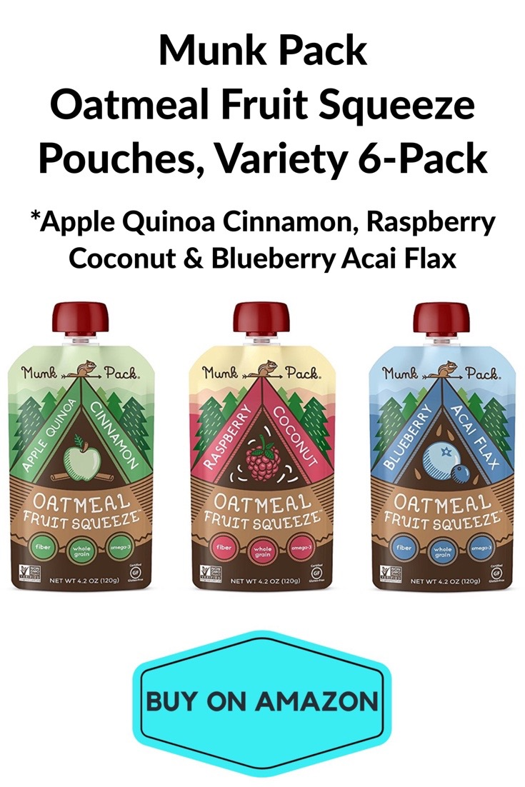 Munk Pack Oatmeal Fruit Squeeze Pouches, Variety 6 Pack