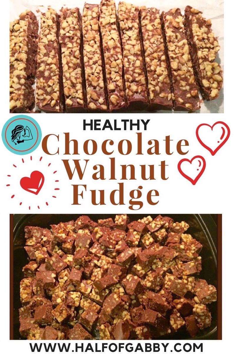 Healthy Chocolate Walnut Fudge
