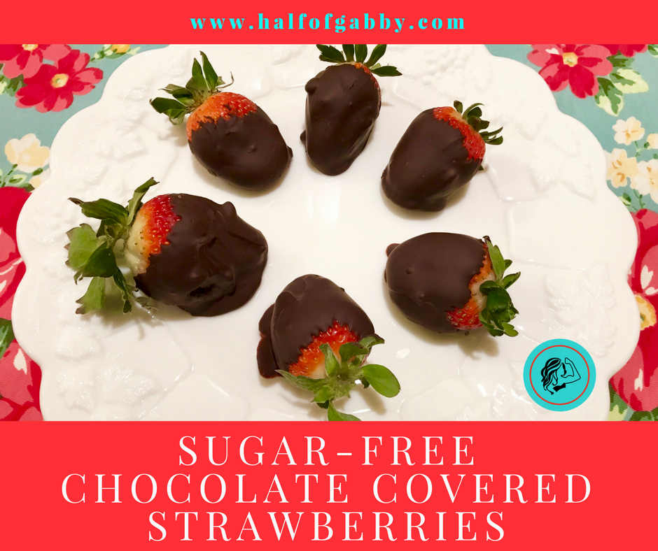 Sugar-Free Chocolate Covered Strawberries (refined-free): Half of Gabby