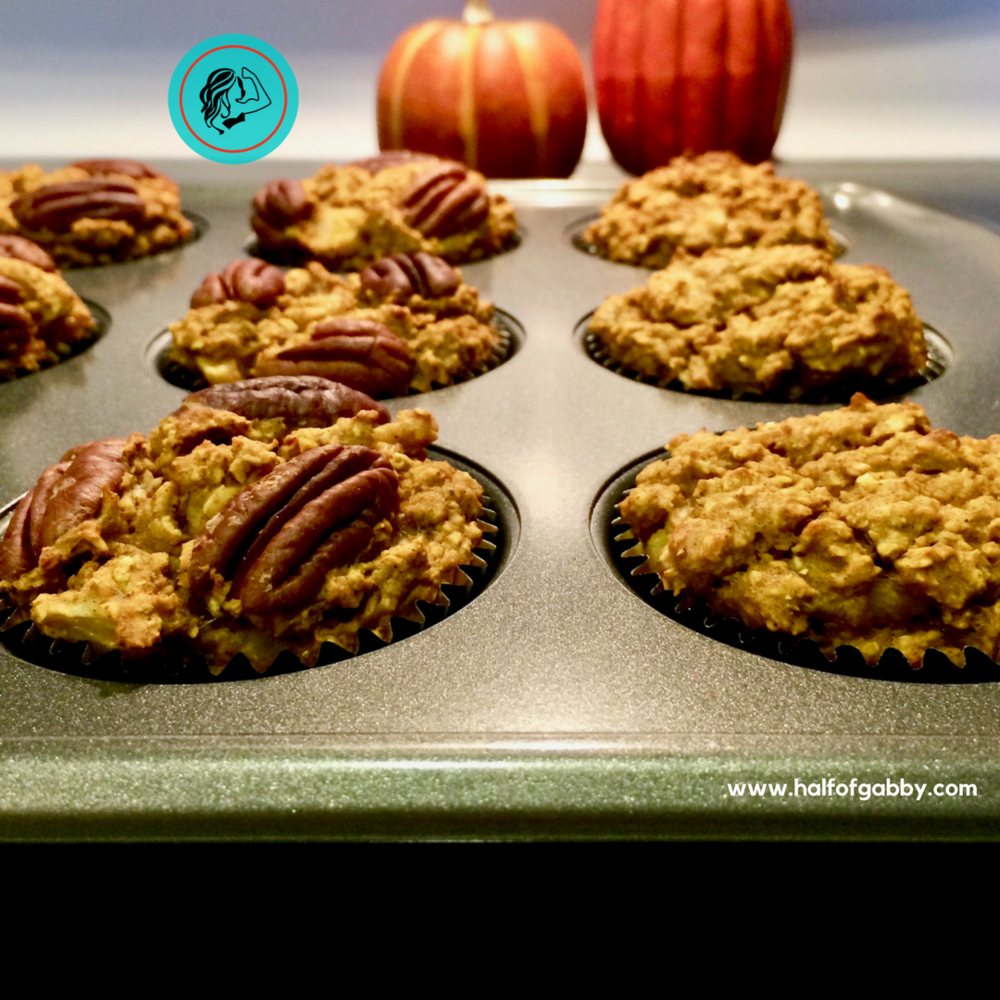 Healthy Pumpkin Muffins: Half of Gabby