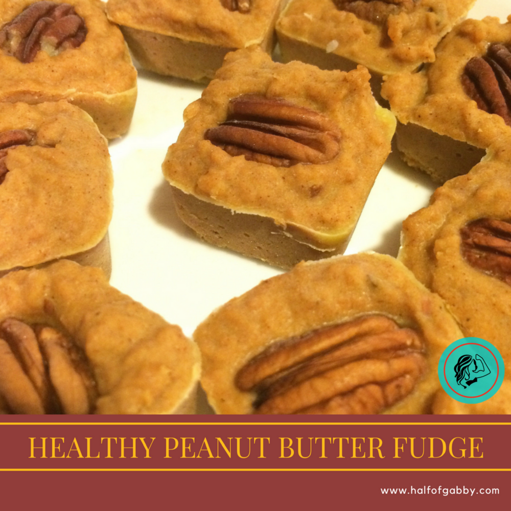 Healthy Peanut Butter Fudge: Half of Gabby