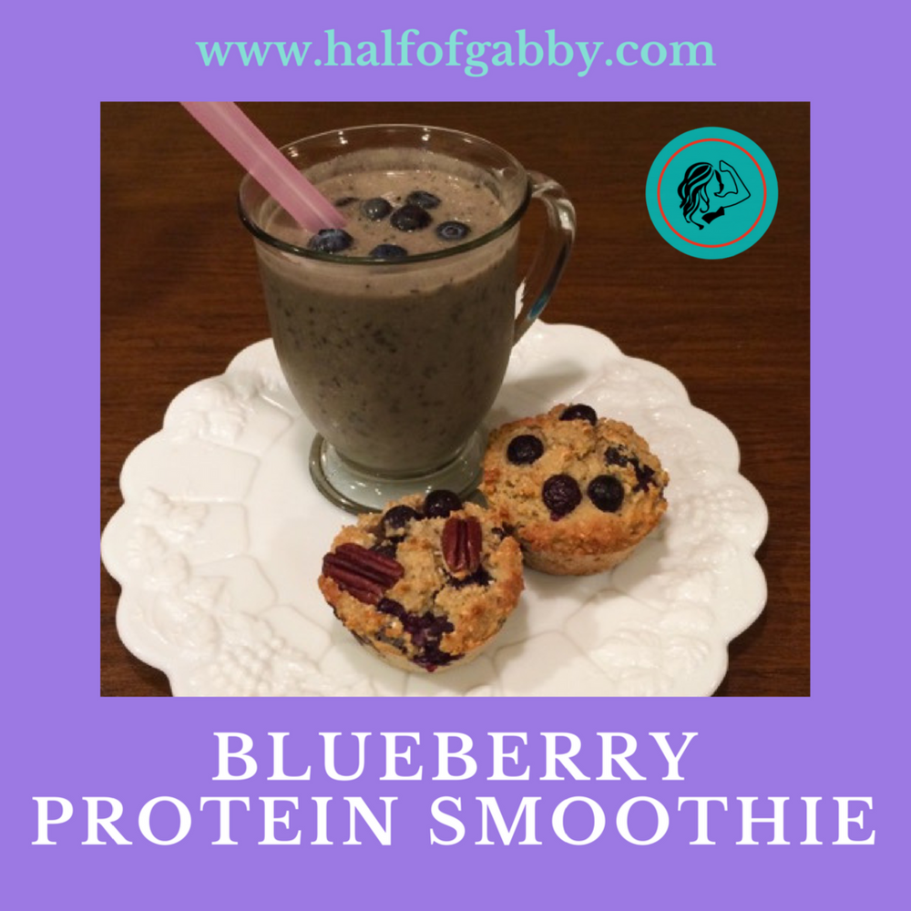 Blueberry Protein Smoothie: Half of Gabby