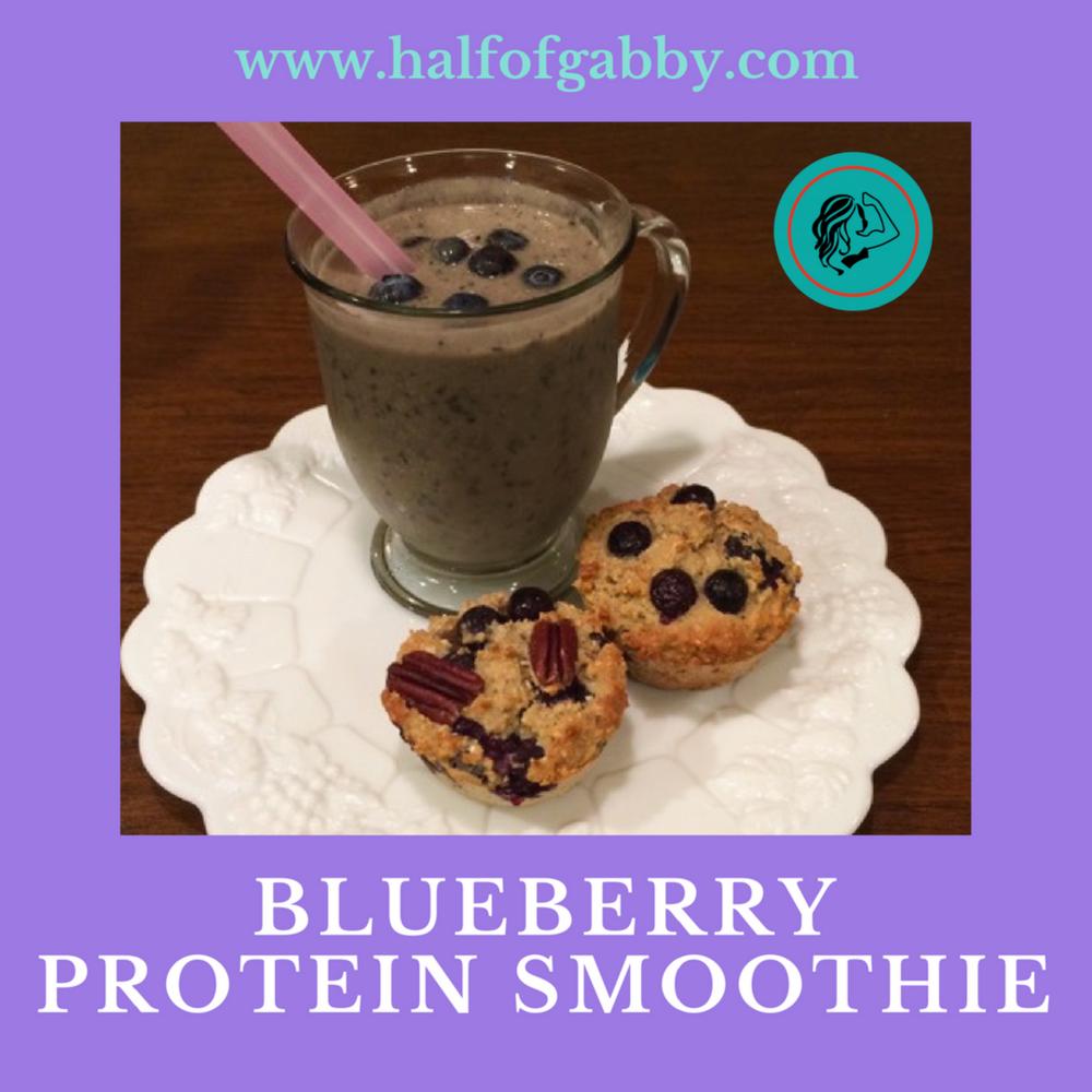 Blueberry Protein Smoothie: Half of Gabby