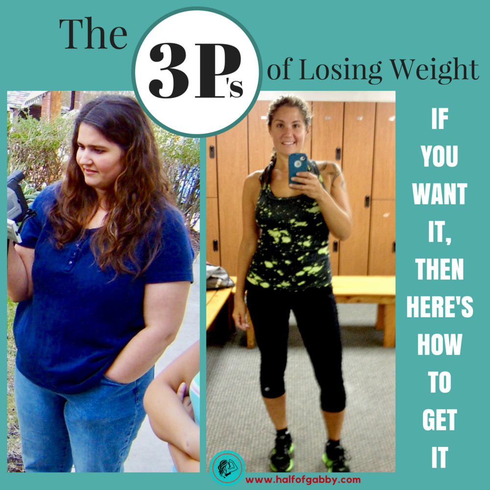 The 3 P's of Losing Weight: Half of Gabby, Weight Loss Guru