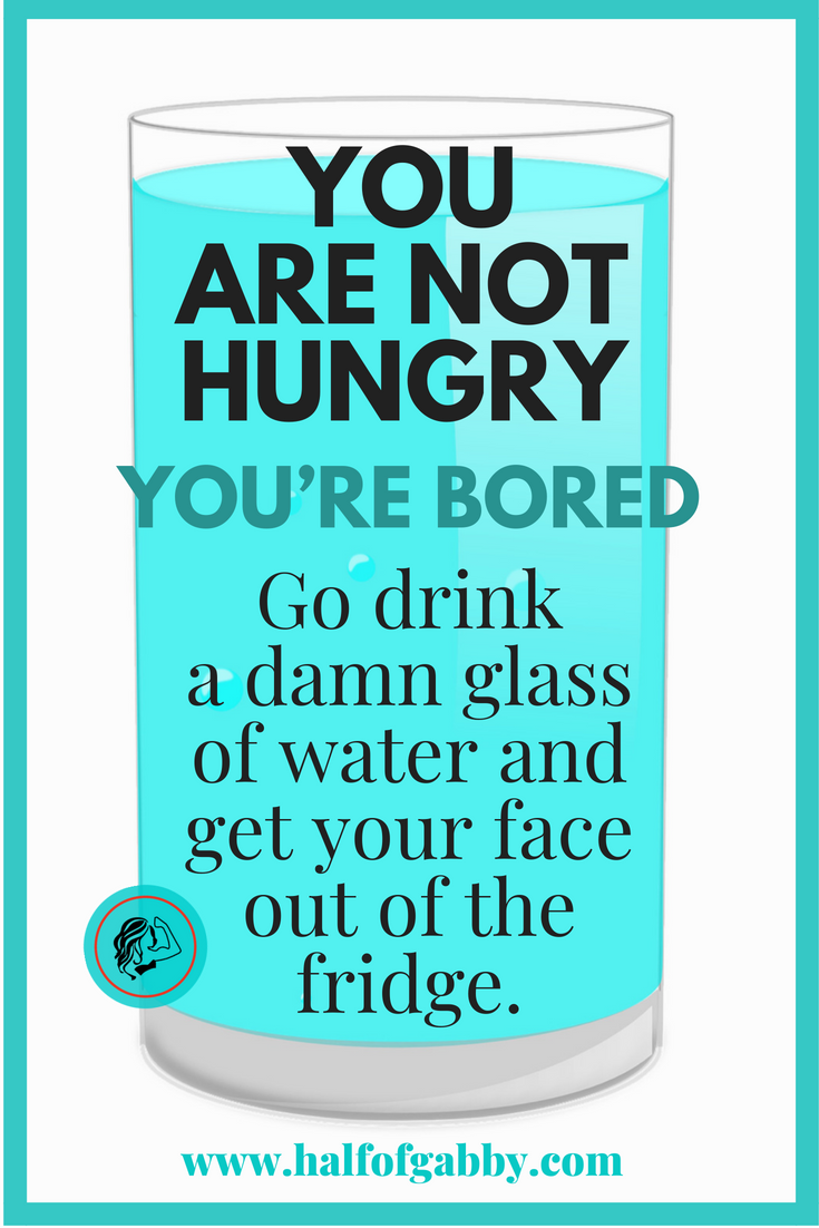 You Are Not Hungry, You're Bored