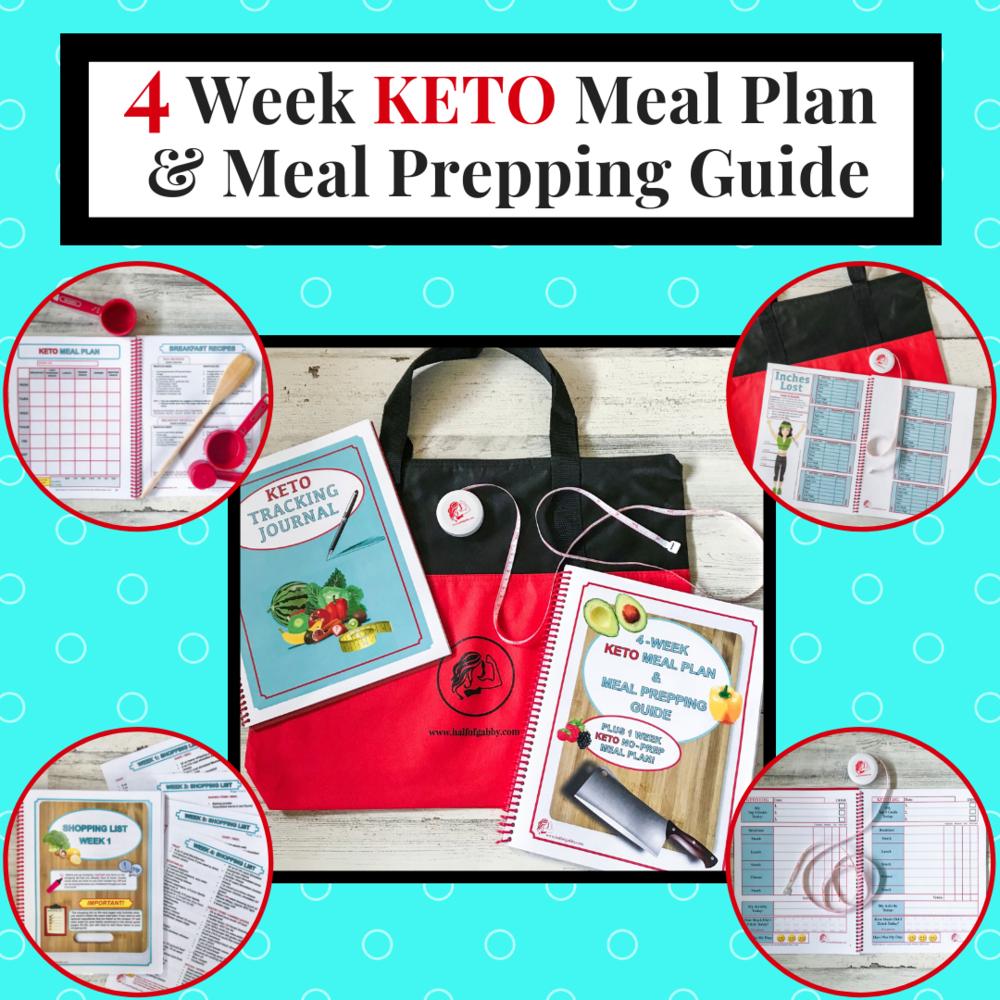 4-Week KETO Meal Plan & Meal Prepping Guide: www.halfofgabby.com