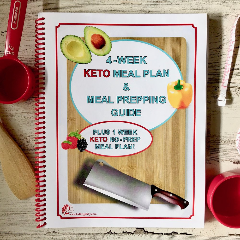 4 Week KETO Meal Plan and Prepping Guide