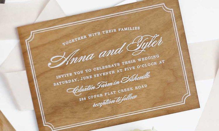 create custom wedding invitations with basic invite kaylie sirek