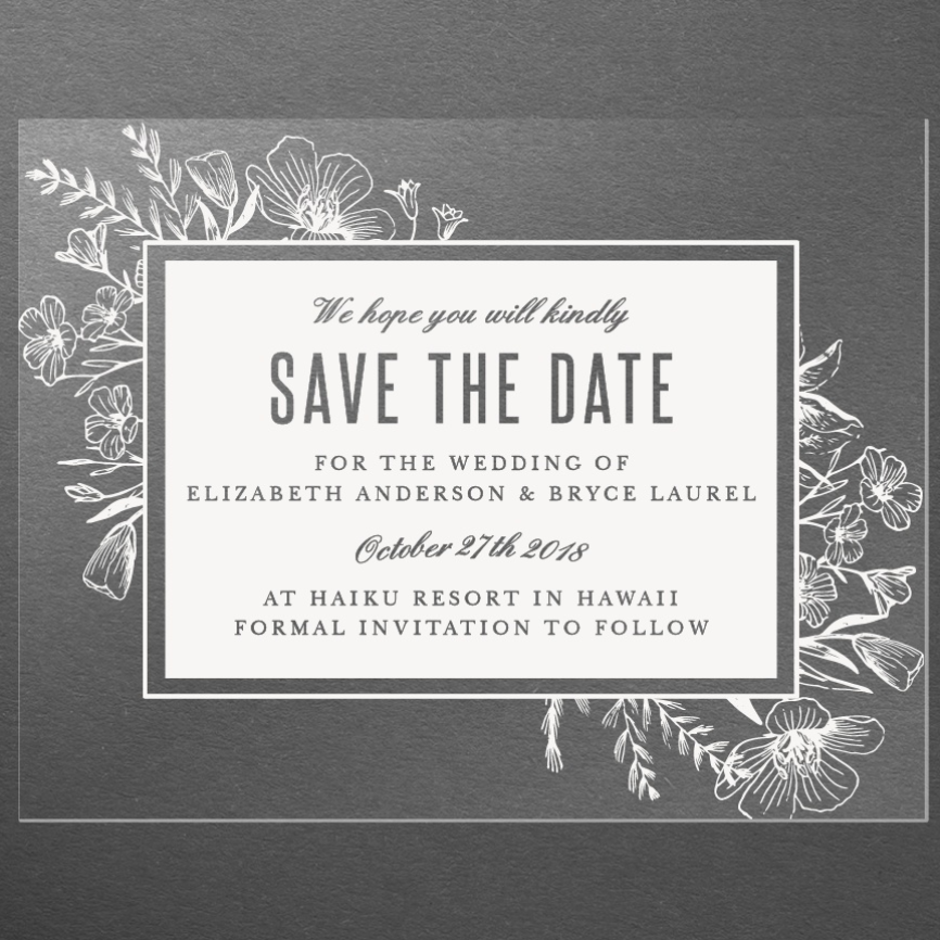 Clear Save the Date by Basic Invite